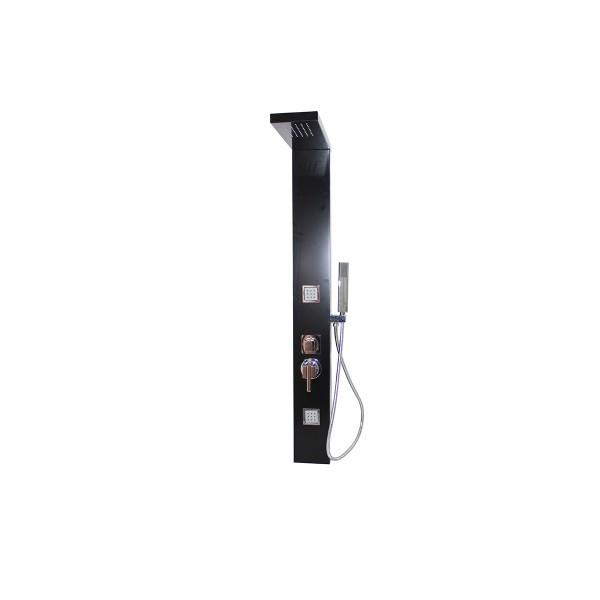 Colonne de douche baln o en aluminium noir 130x15cm a201 - Colonne de douche balneo ...