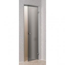 Porte pour Hammam 60 x 190 cm cadre en aluminium