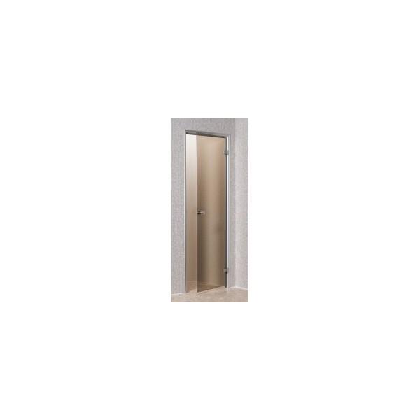 porte pour hammam bronze 70 x 190 cm cadre en aluminium kgt france. Black Bedroom Furniture Sets. Home Design Ideas