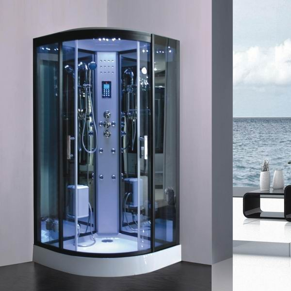 Cabine de douche hammam 90 x 90 full options kgt france - Cabine de douche hydromassante avec radio ...