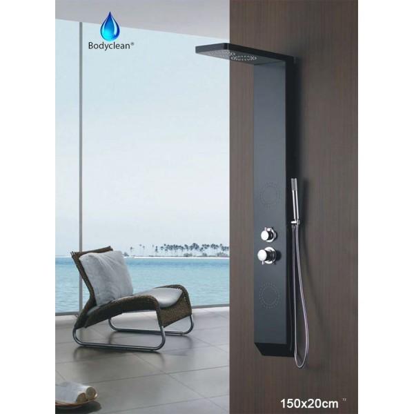 colonne de douche baln o 3 fonctions 150x20cm a110 pluie hydrojet classique kgt france. Black Bedroom Furniture Sets. Home Design Ideas