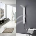 Colonne de douche balnéo en Aluminium Blanc et noir 120X21cm A120