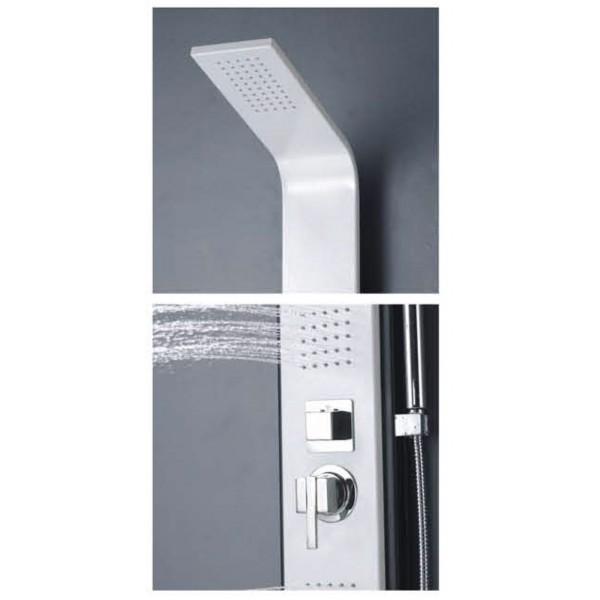 colonne de douche baln o en aluminium blanc et noir. Black Bedroom Furniture Sets. Home Design Ideas