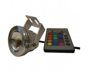 Spot à LED étanche RGB + blanc avec télécommande  chromothérapie