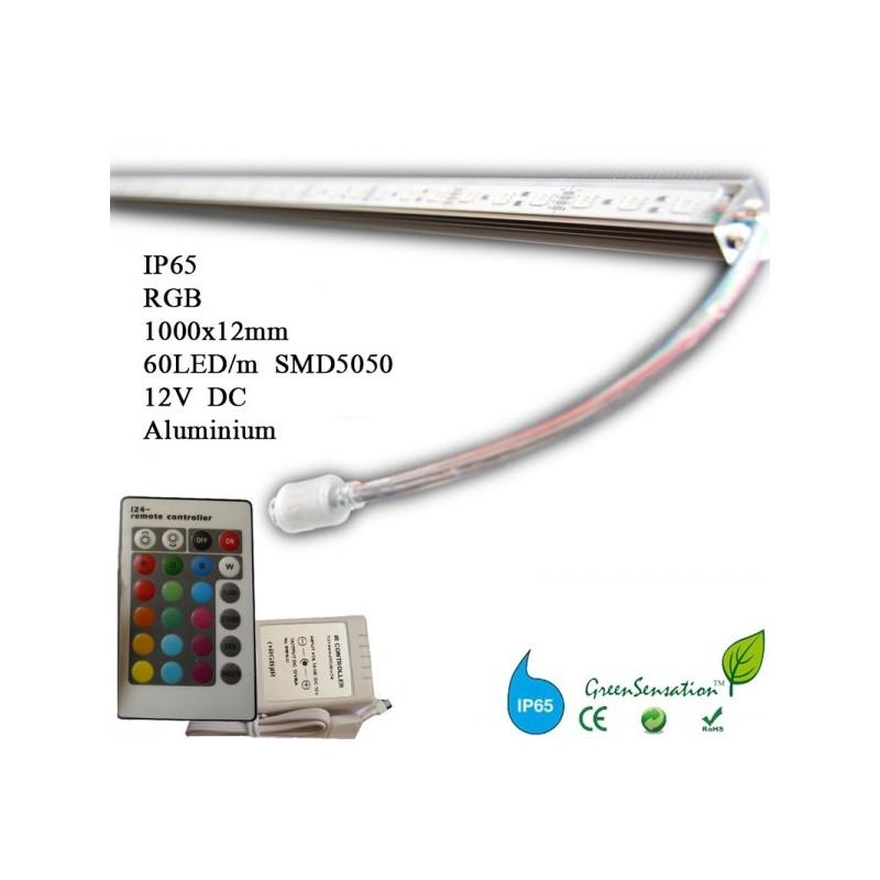 R glette led couleurs 1 m rgb avec t l commande waterproof ip65 - Reglette led 12v ...