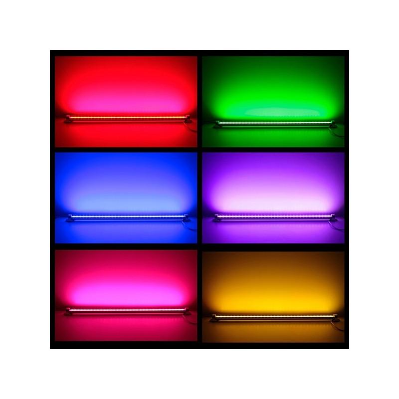 R glette led couleurs 1 m rgb avec t l commande for Eclairage telecommande interieur