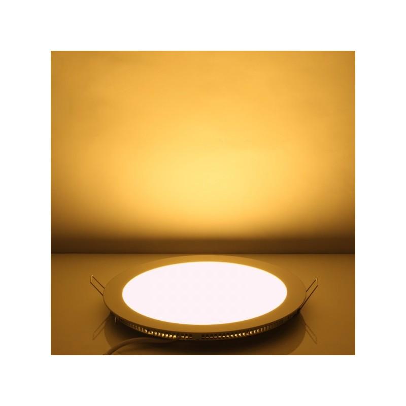panneau led rond 6w blanc chaud 12cm. Black Bedroom Furniture Sets. Home Design Ideas