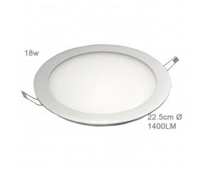 Panneau à LED rond 18w Blanc Neutre 22.5cm